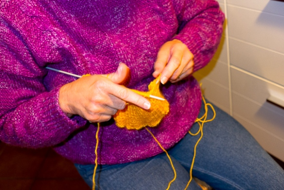 knitting for L'Aquila
