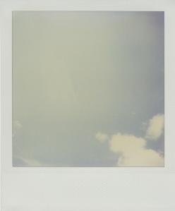 polaroid, sky,cielo