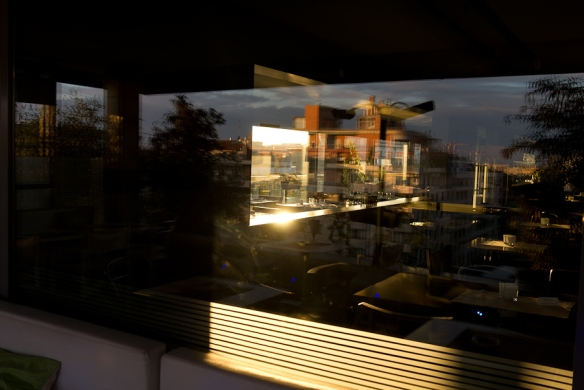 reflections in a bar's  window, dec 2012 ©rkr