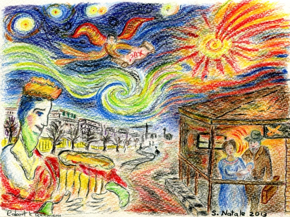 natività 2013, drawing by rkr