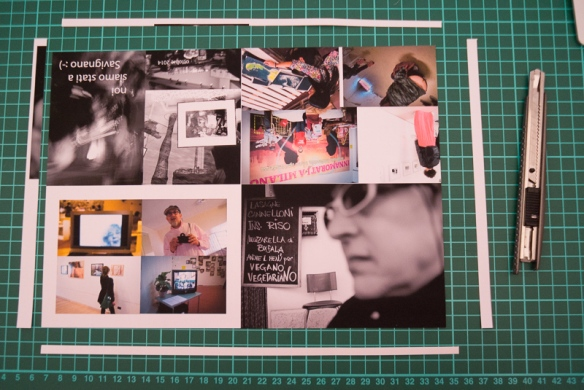 Prima cosa rifilare il foglio - First trim the excess of paper