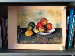 Pastels work inspired by a Cezanne painting