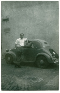 Dad with the small FIAT, 1950 circa